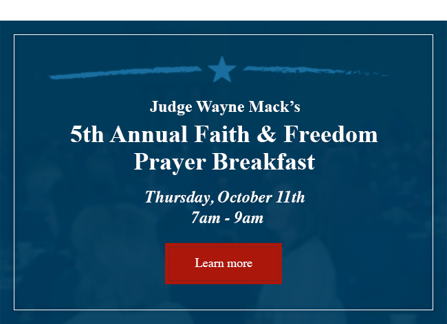 2018 Faith and Freedom Prayer Breakfast